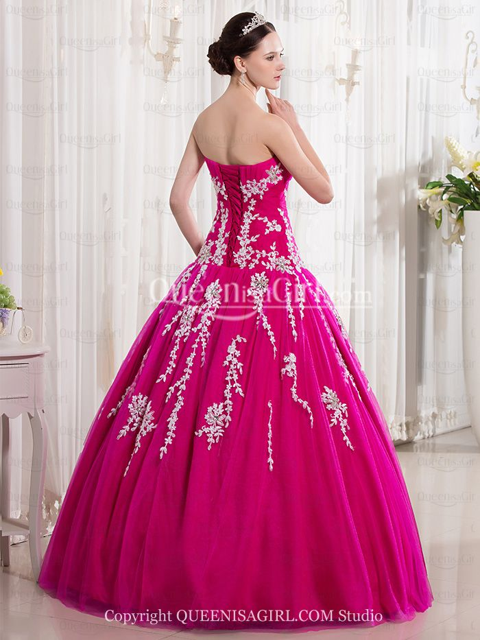 bed9f9b513 Ball Gown Princess Strapless Sweetheart Long   Floor-Length Satin Organza  Quinceanera Dress front back detail and photogallery