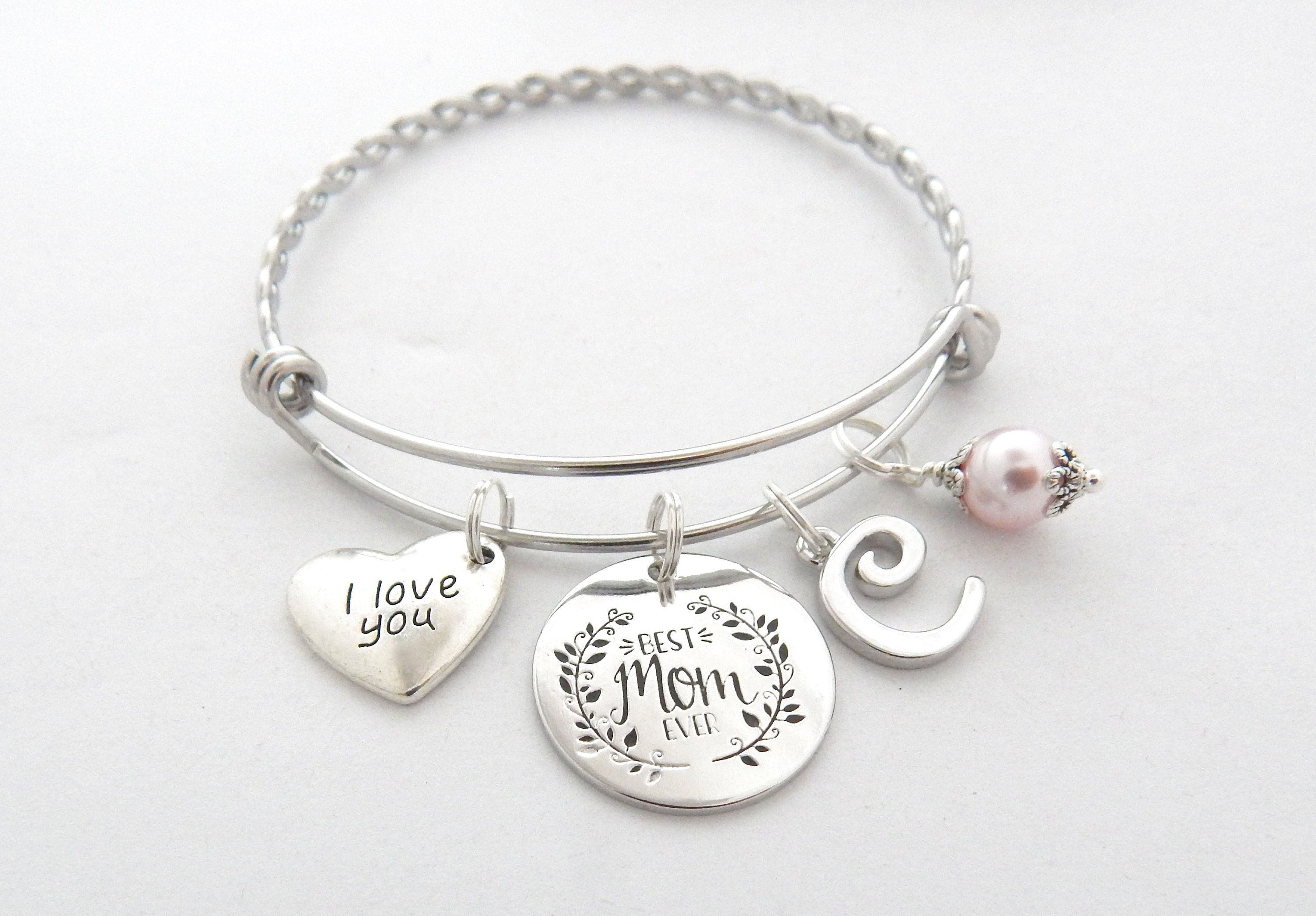 mother crystal with charm quote gift love inspirational s and product family day original card friend best bracelet mothers