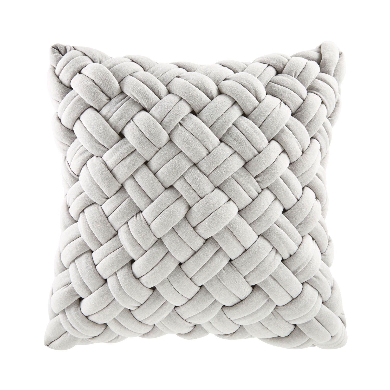 Graues Geflochtenes Kissen 45x45 Cushions Grey Cushions