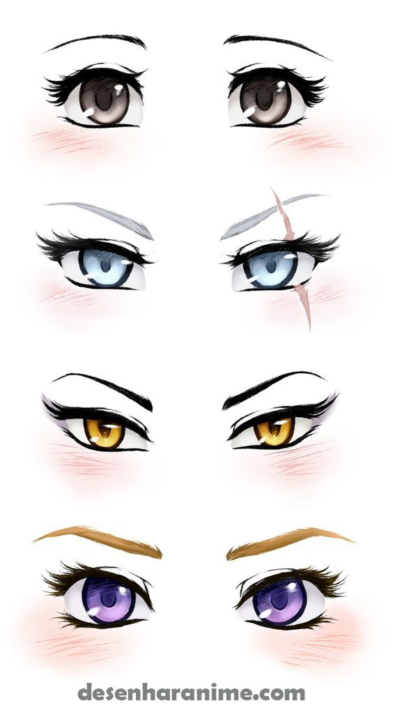 Video Desenhe Seus Personagens Favoritos Desenho De Olhos Anime