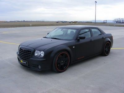 Tuning Chrysler 300c Hemi Srt 8 Matte Black With Images