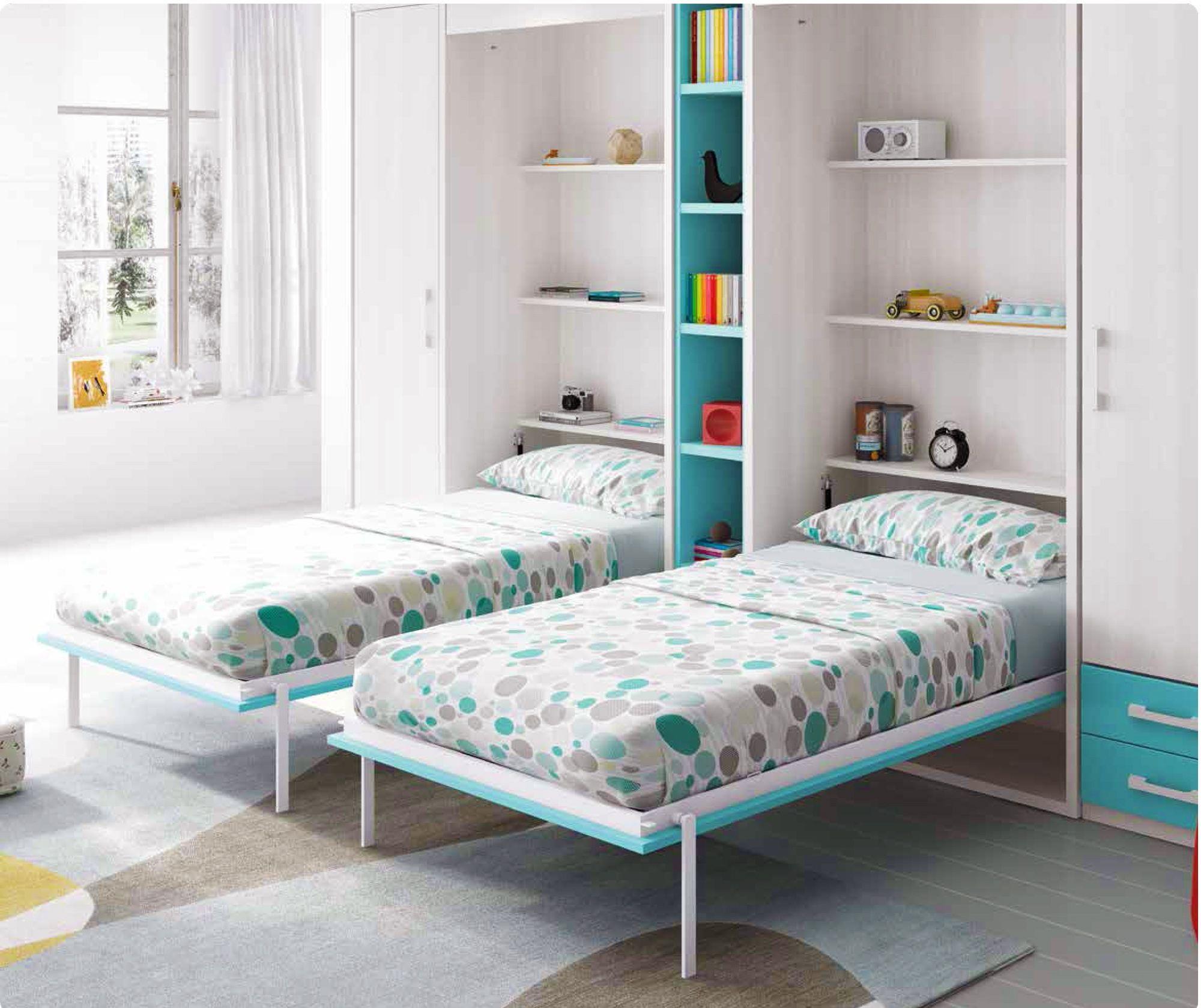 Placard Avec Lit Integre lit escamotable armoire avec 2 couchages personnalisable