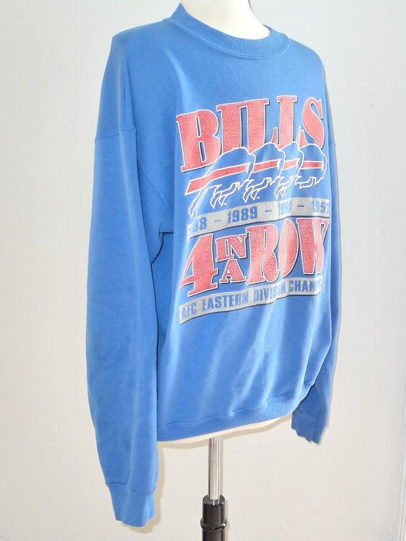 Wholesale Buffalo Bills Sweatshirt, Vintage Football Franchise Top, Large Logo  supplier