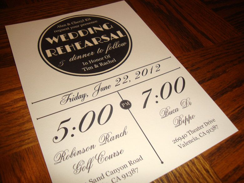 Custom Printable Vintage Wedding Rehearsal Dinner Invitation 1500 Via Etsy
