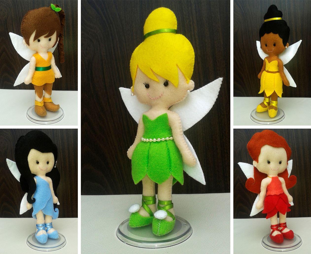 Kit fadas Disney (Tamanho Pequeno)   Filz und Figuren