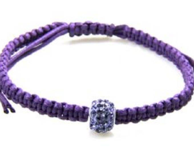 Genuine crystal bracelet sterling silver