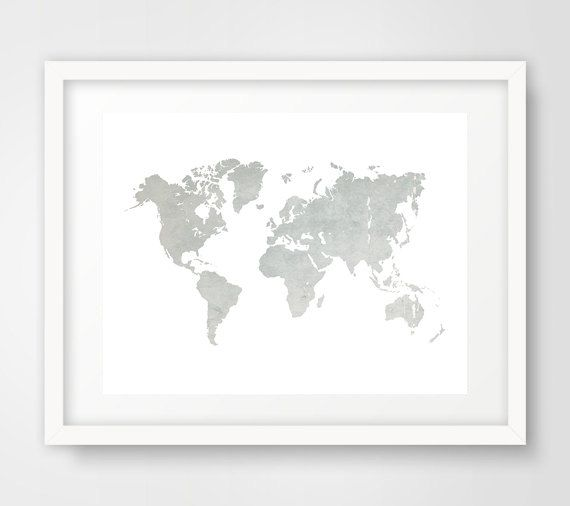 World map print printable map travel map grey world map world world map print printable map travel map grey world map world map gumiabroncs Gallery