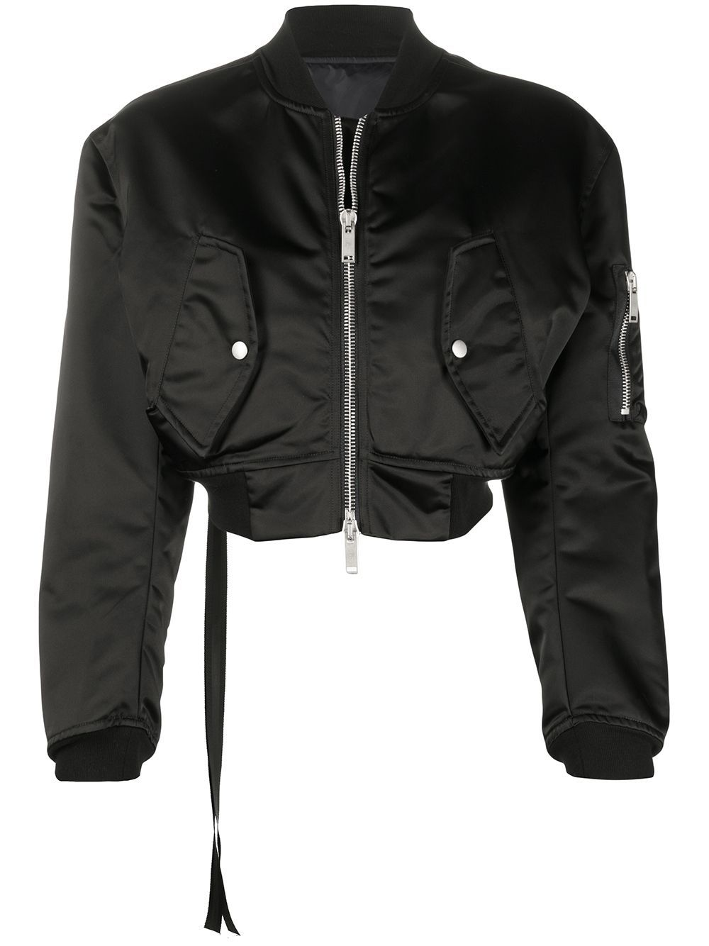 Unravel Project Cropped Bomber Jacket Farfetch Cropped Bomber Jacket Bomber Jacket Trendy Bomber Jackets [ jpg ]