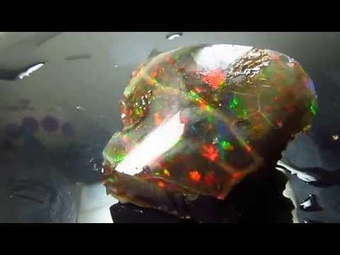 Large 36 ct Natural Virgin Valley Nevada Top Precious Black Crystal Rare OPAL - YouTube
