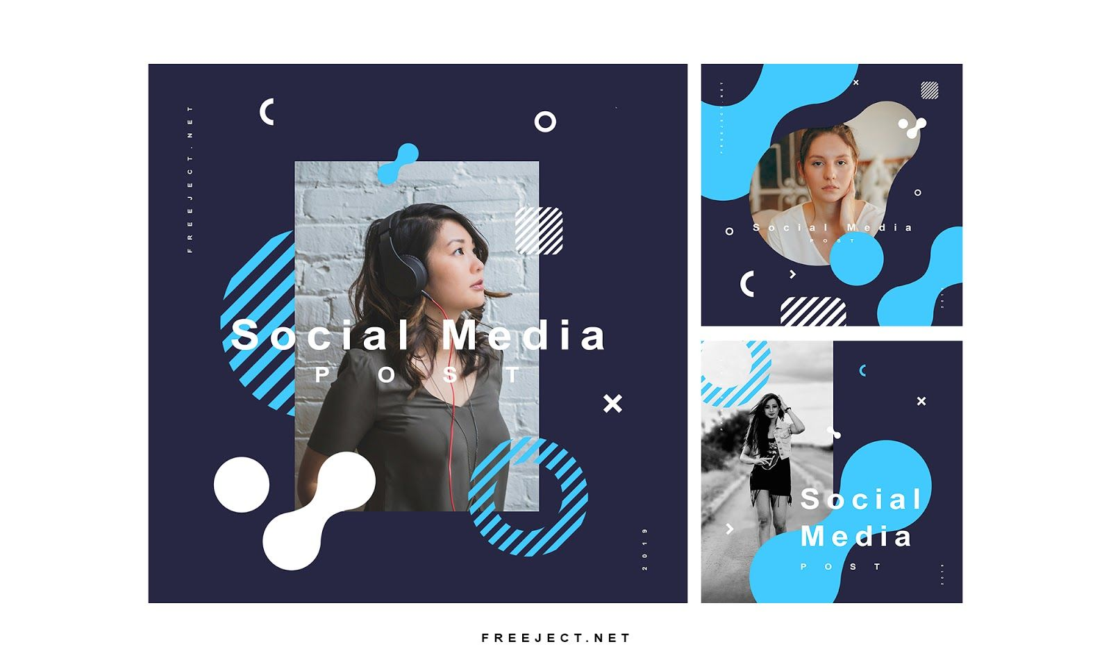 Freeject Net Free Download Social Media Post Template Vol 2 P Facebook Post Design Social Media Post Social Media