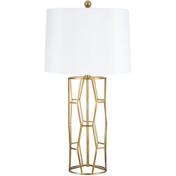 Antique gold open geometric table lamp 45 liked on polyvore antique gold open geometric table lamp 45 liked on polyvore featuring home aloadofball Gallery
