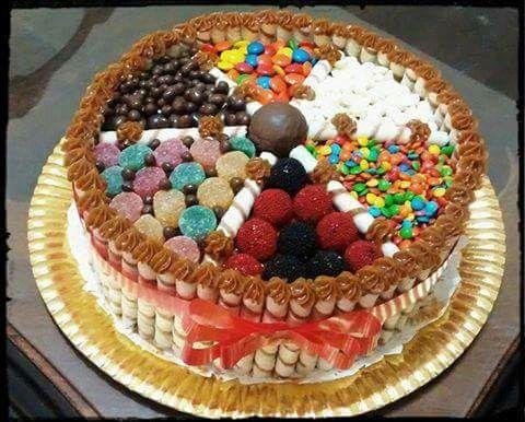 Torta Con Golosinas Tortas Decoradas Pinterest