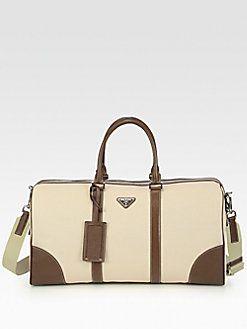 cc9a64438637 Prada - Canvas and Leather Tote Bag | PRADA | Bagaglio