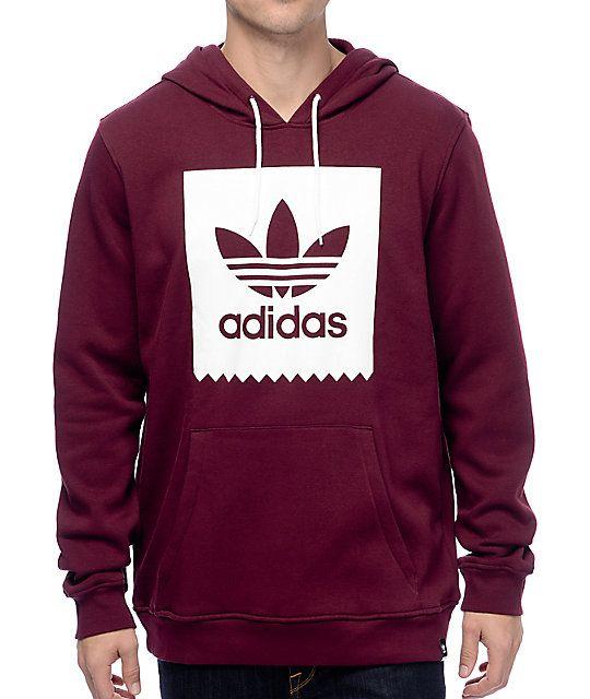 burgundy adidas sweatshirt