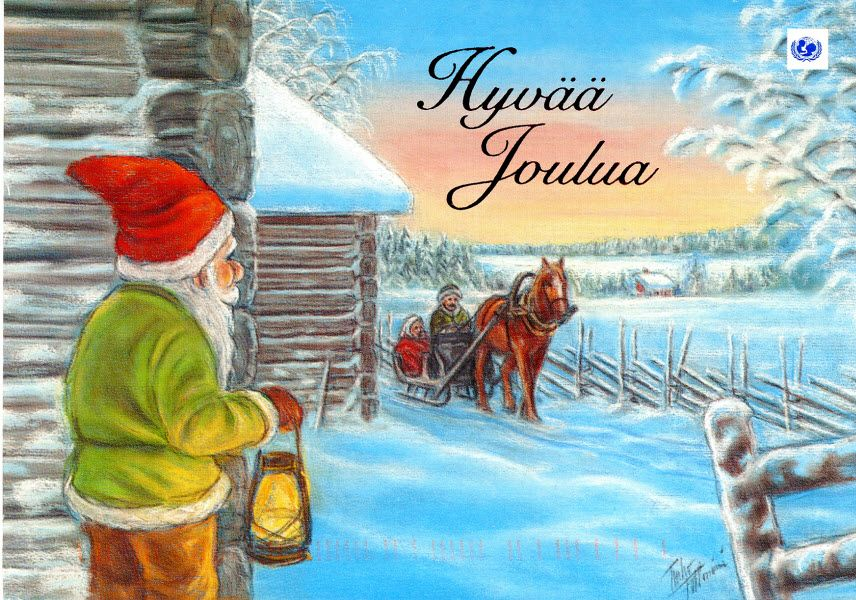 Hyv joulua merry christmas whats a finnish christmas card merry christmas whats a finnish christmas card without a finnish horse m4hsunfo