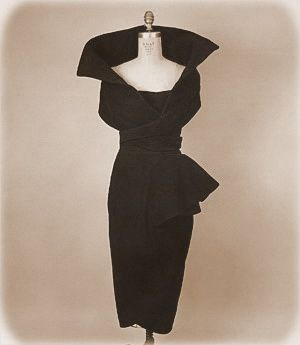 1940 Fashion Vintage Clothing - Mademoiselle Guillotine Dress ...