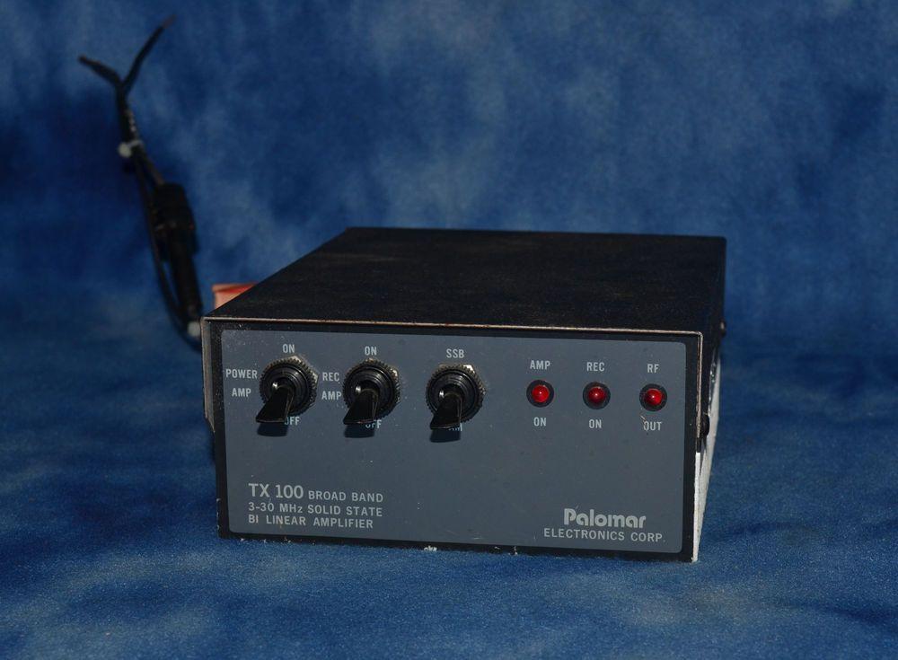 PALOMAR TX-100 BROAD BAND 3-30 MHz BI-LINEAR AMPLIFIER VINTAGE