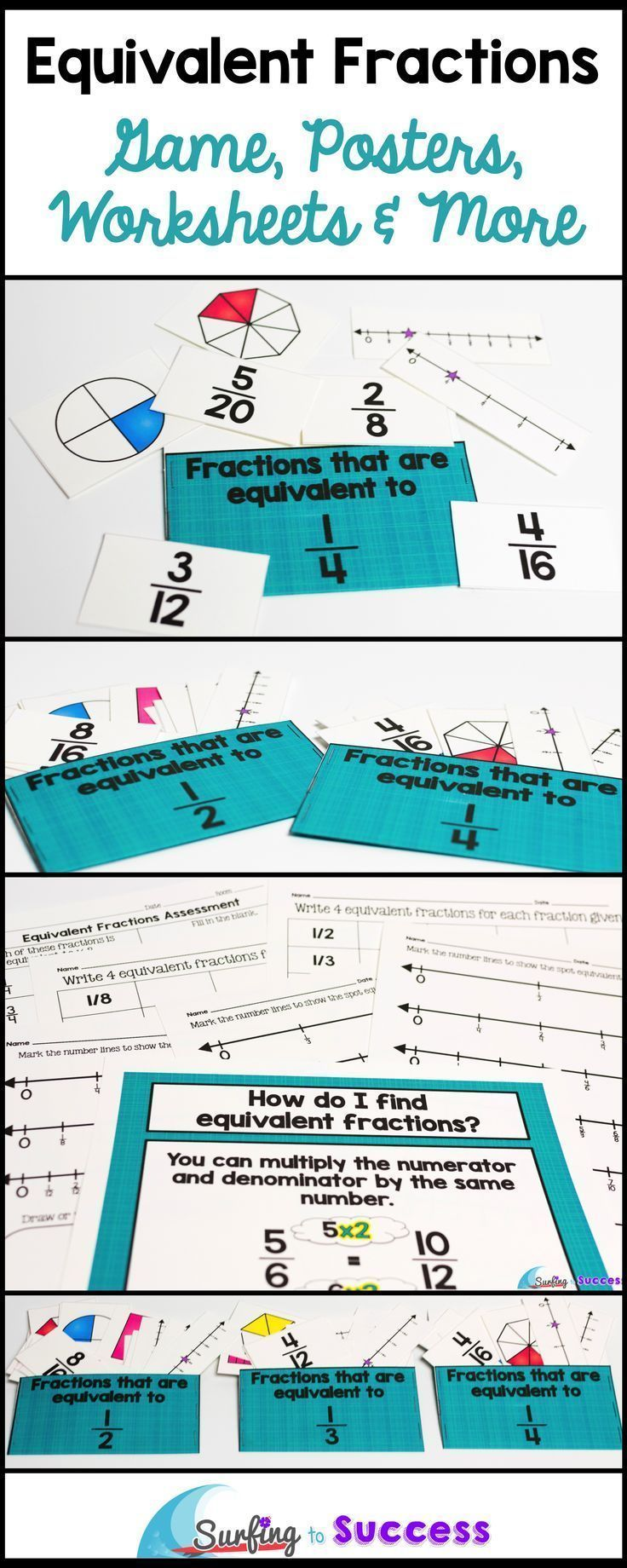Equivalent Fractions Game, Vocabulary, and More- Common Core ...