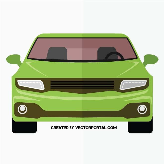Car Front Side Vector Graphics Car Vector Green Car Car Drawing Easy