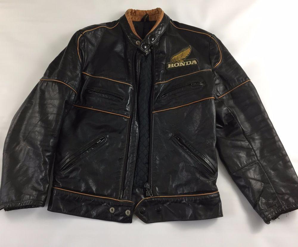 Genuine Vintage 80s Classic Honda Hondaline Racer Leather Jacket Size 36 Honda Motorcycling Leather Jacket Jackets Vintage Outfits