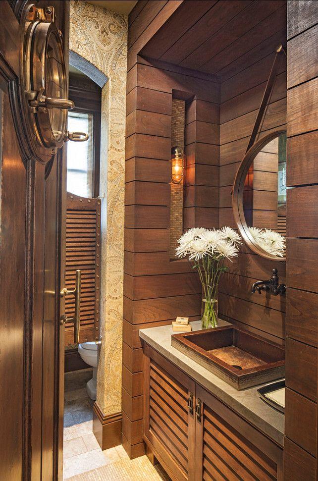 Powder Room Coastal Powder Room Design With Ralph Lauren Wallpaper Powderroom Coastal
