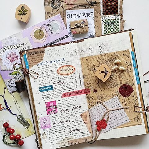 Week 31 ~ I love to play, the keyboard is my journal and mailart. Lovely…
