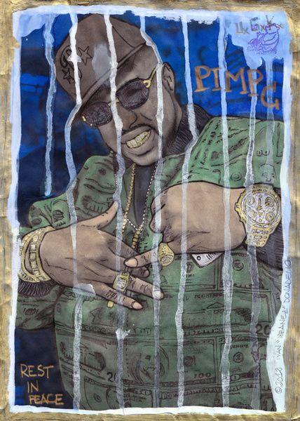 DEAD RAPPERS SERIES - Pimp C Art Print   tight   Pimp c