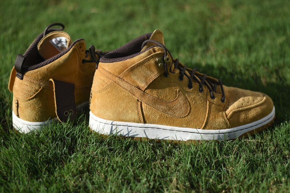 sports shoes f381c 72d4e Nike Dunk CMFT Wheat Sneakerboot Dunk SB Yellow Brown  fashion  clothing   shoes