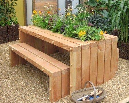 Découvrez Ces Jolies Tables De Jardin Des Modèles Uniques Insolites Et Originales Du Fait Maison à Base Récup Recyclage