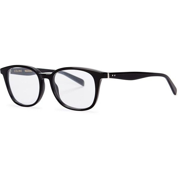 3c17cd60da Womens Round Céline Black Oval-frame Optical Glasses ( 305) ❤ liked on  Polyvore featuring accessories