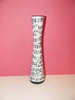 Musical Sheet Vase Recycled Sheet Musicgifts Pinterest Craft