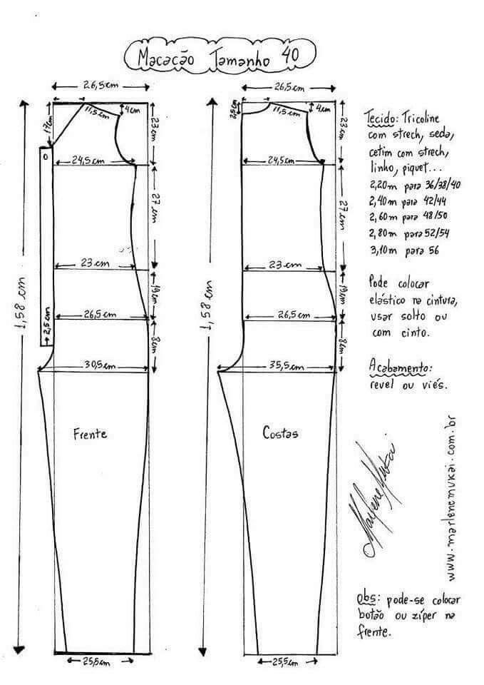 Jumpsuit pattern | Draft : Jumpsuits, Macacāo, Enterizos, Monos ...