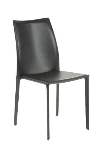 Euro Style 02350BLK Dalia Side Chair Black Leather Set Of 4 By