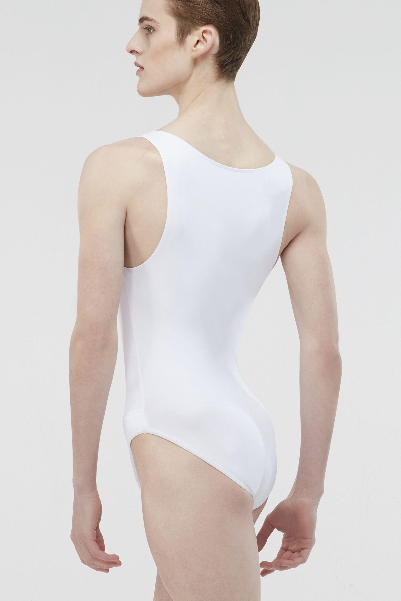 Octave Microfiber Basic Men S Full Tank Leotard With Attached Full Seat Dance Belt Wearmoi Ballet Ballet In 2020 Leotard Fashion Male Ballet Dancers Mens Leotard