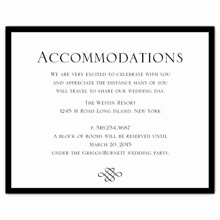 Free Wedding Accommodation Card Template Elegant Wedding Invitation Ac Modation