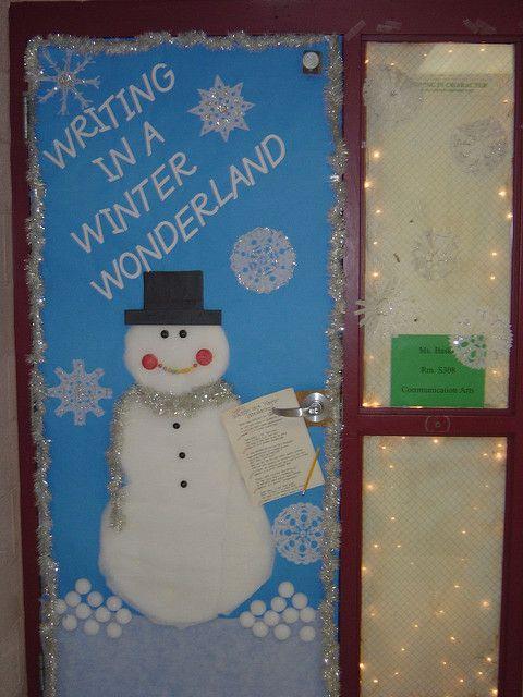 Winter Wonderland Classroom Door Decorations ~ Writing in a winter wonderland school ideas pinterest
