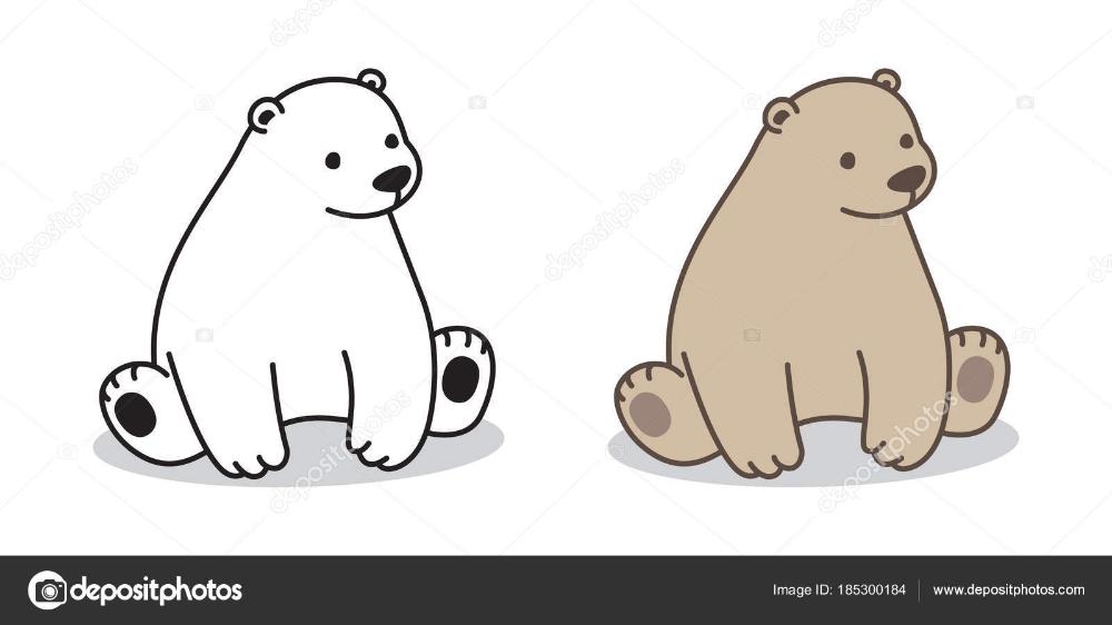 Bear Polar Bear Vector Icon Sitting Illustration Character Cartoon Stock Vector C Cnuisin 185300184 Illustration Icone Orso
