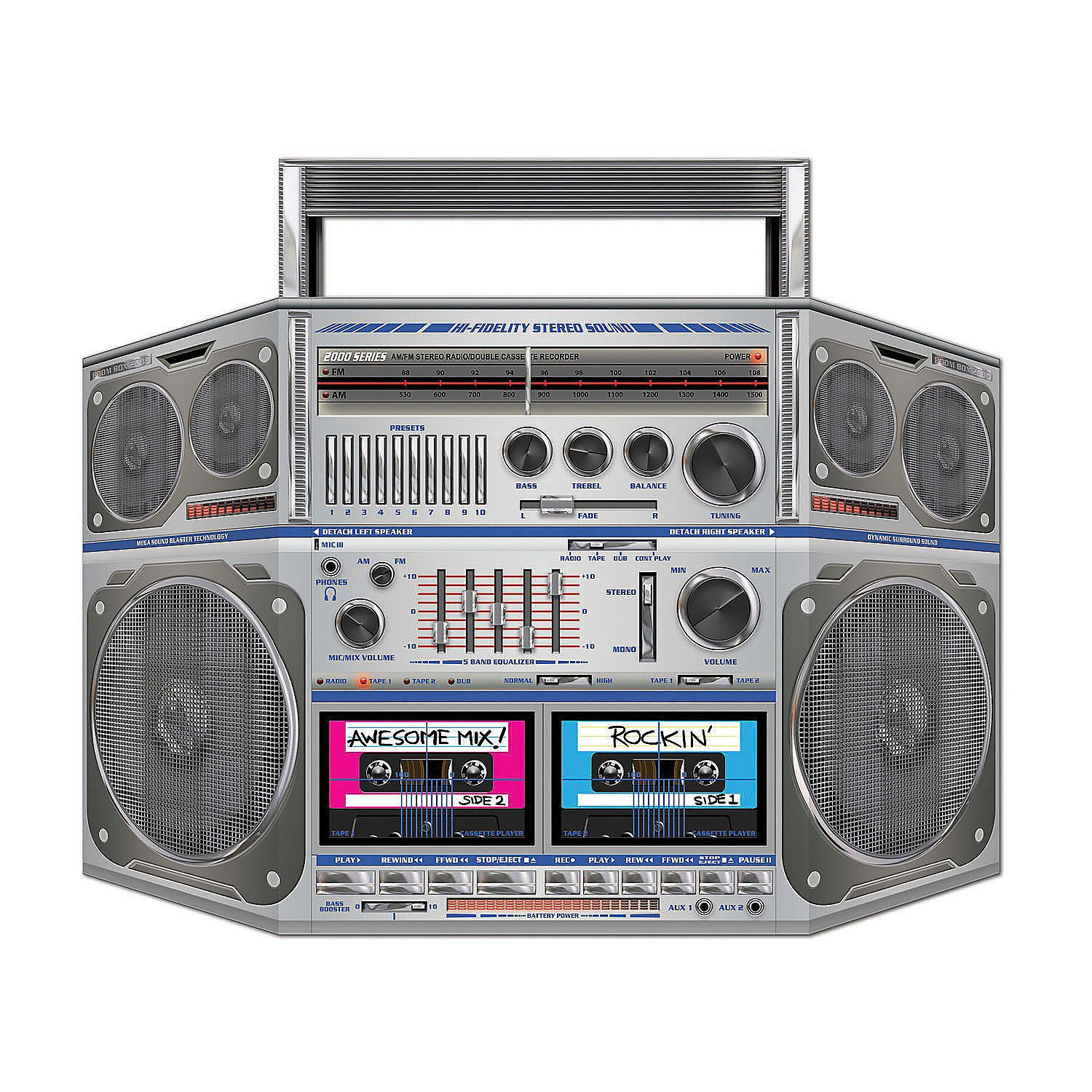 Awesome 80s Boombox Cardboard Stand Up Hip Hop Party Boombox 80s Party
