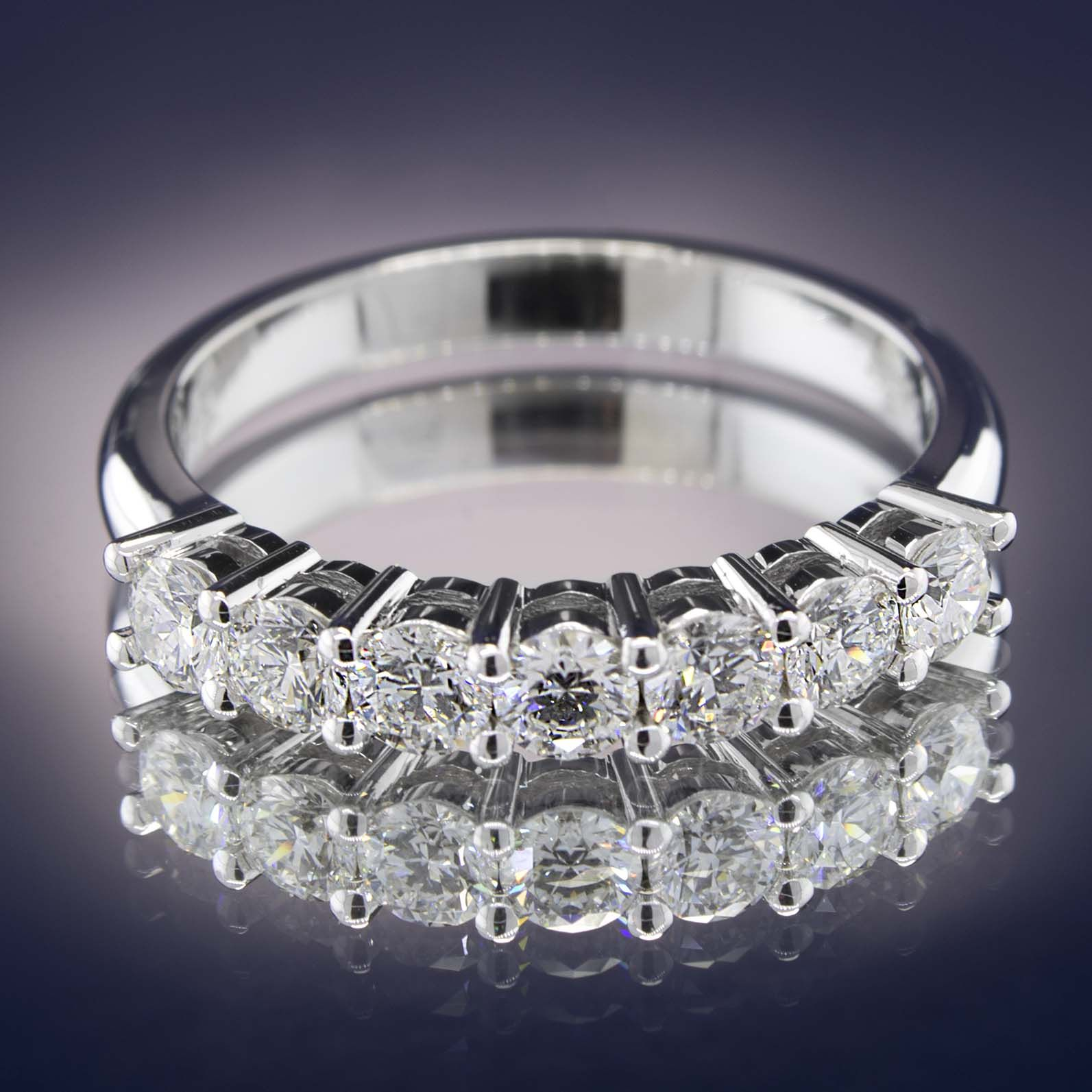 Wedding Anniversary Diamond Ring 0.75 Carats, Gold or