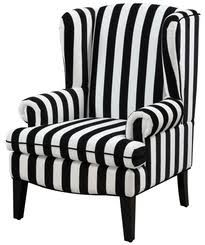 black wingback chair