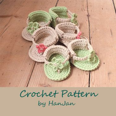 Baby Flower Sandals Instant Download Pdf Crochet Pattern Baby