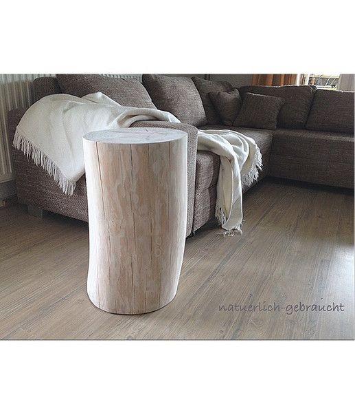 Baumstamm Beistelltisch Hocker von natuerlich-gebraucht auf DaWanda.com