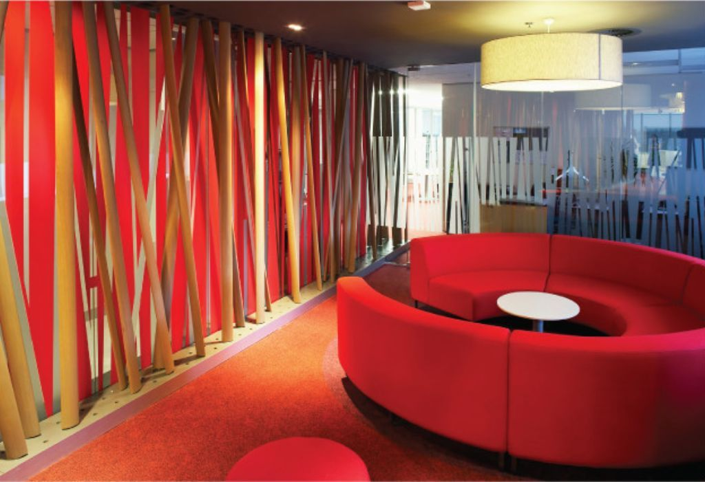 The texture of the walls can be used for my curved wall an for Colorful office furniture