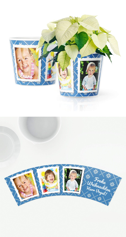 Lehrer Weihnachtsgeschenk Topf mit 3 Fotos ❤ Geschenk für ...