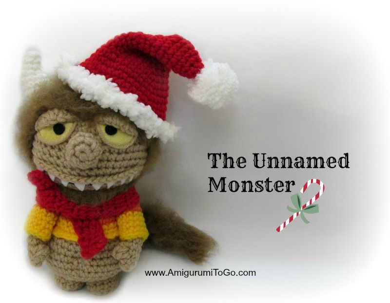 Amigurumi Christmas Free Patterns : Amigurumi christmas monster free crochet pattern tutorial