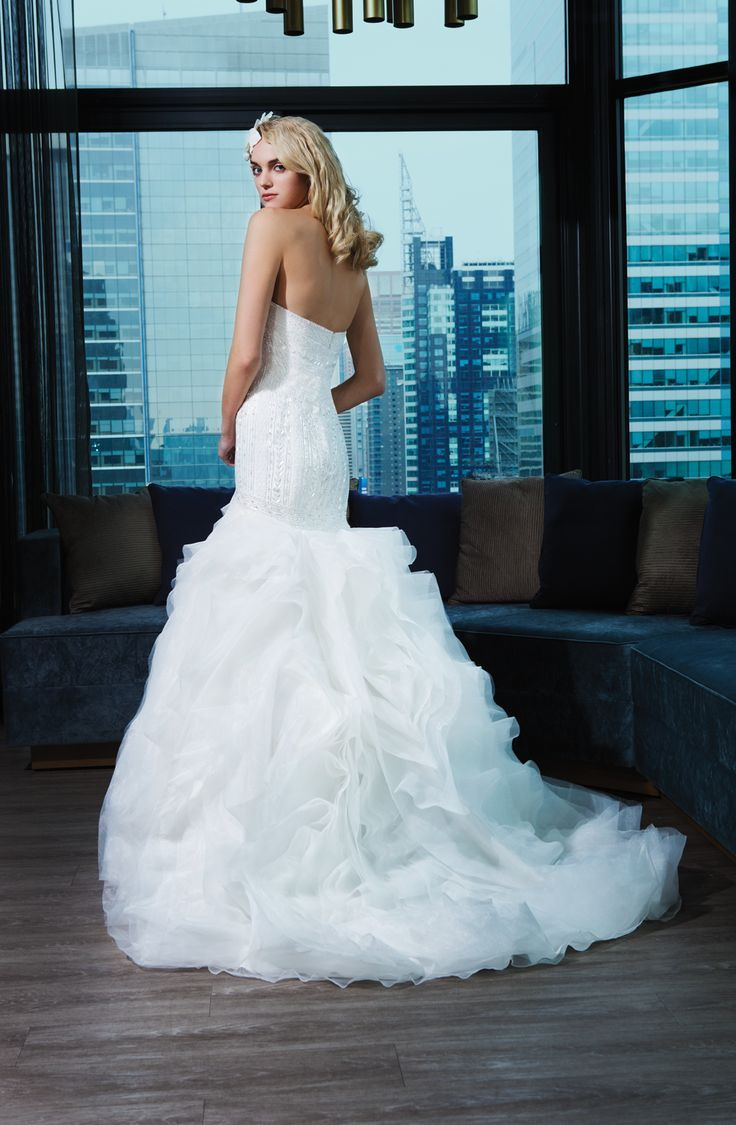 Wedding Dresses: Illustration Description Justin Alexander Signature ...