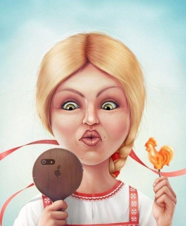 Смешная картинка жены нарисованная