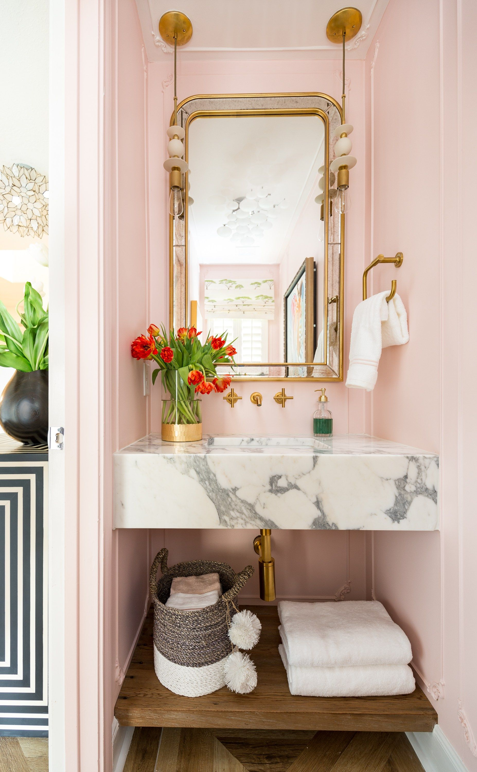 One Room Challenge Parisian Eclectic Powder Room Reveal