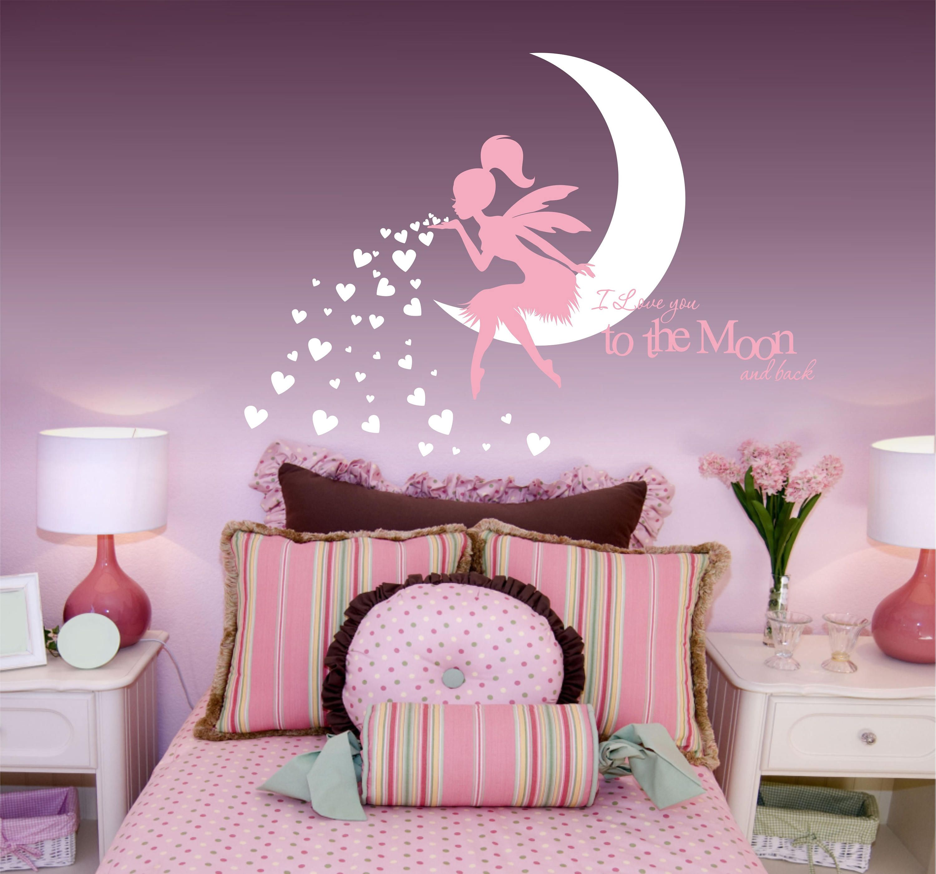 Fairy Wall Decal Ing Hearts