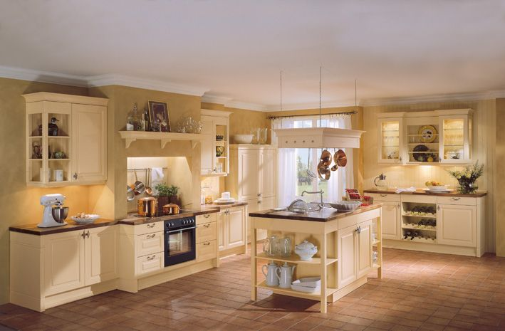 Mediterran Landhaus  Küchen  Asmo Küchen cuisine Pinterest - küche landhaus modern